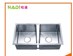 SUS304 Undermount Installment Double Bowl Kitchen Sink HD8045H