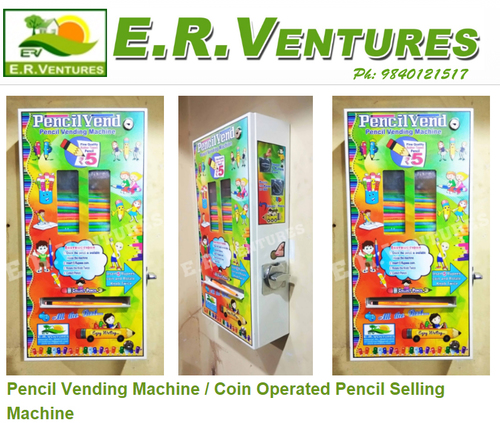 Heavy Duty Coin Operated Pencil Selling Machines