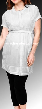 Off White Maternity Button And Belted Top in  New Ashok Nagar