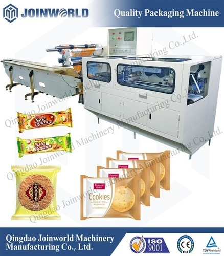 Automatic Biscuit And Cookie Flow Wrapping Machine
