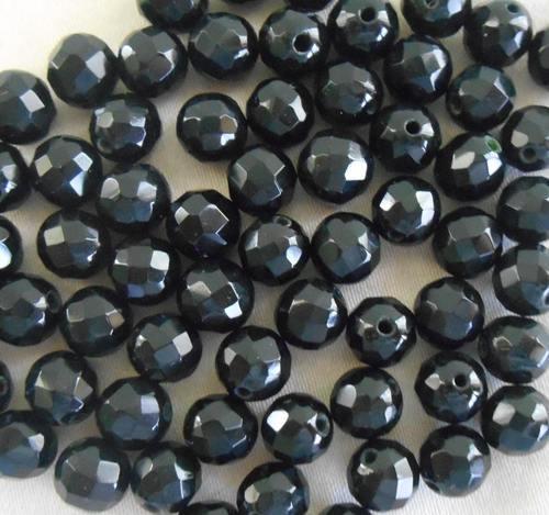 Black Loose Faceted Diamond Beads - Fancystar Gems, Plot No