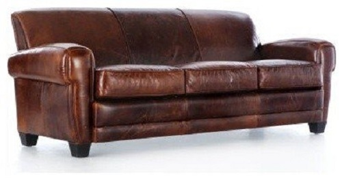 Three Seater Genuine Leather Sofa