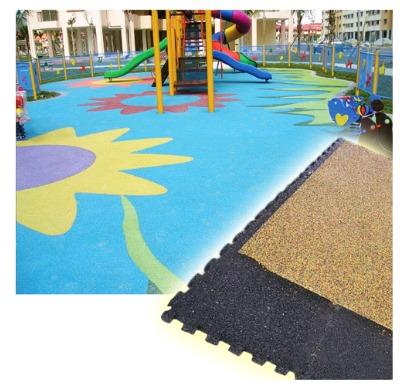 Pre-Moulded Interlock Tiles (Pmi Tiles) For Epdm Flooring Base