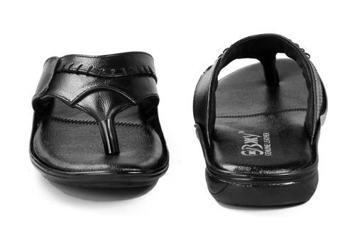Men Office Wear Leather Slipper