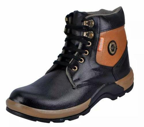 Men'S Black Daily Wear Boots
