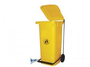 Pedal Wheel Waste Bin