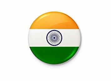 Indian Flag Round Badge