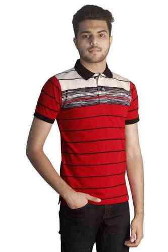 Tapasya Red Navy Polo T Shirt