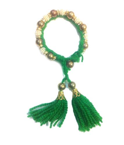 Wave Fashion Green Woolen Handicraft Bangle