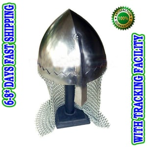 Norman Nasal Helmet With Chain Mail