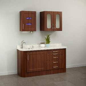 Synthesis\\302\\256 Specialty Glove, Cup And Towel Dispenser