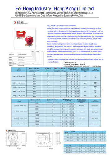 LMZJ1-0.66 Low Voltage Current Transformers