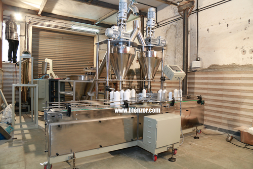 Double Head Talcum Powder Filling Machines