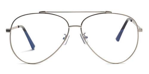 78fbc8f1399 Jrs E10c4285 Silver Full Frame Pilot Eyeglasses - Coolwinks Technologies