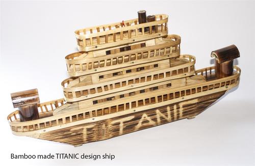 Bamboo Made Tiatanic Ship