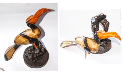 Wood Made Hornbill