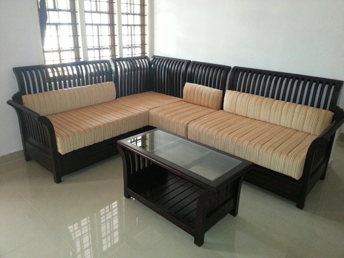 Wooden Corner Sofa Set At Best In