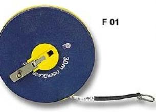 Series F01 Long Fiberglass Reel Measuring Tape