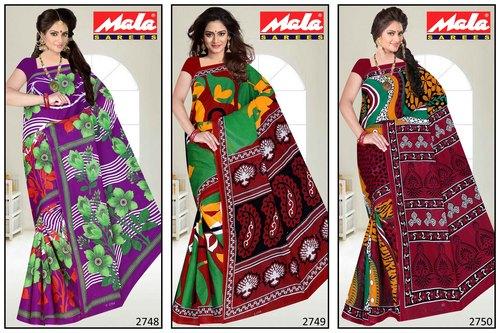 Fancy Cotton Printed Saree