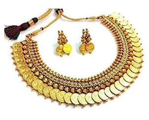 White Stones Gold Plated Necklace Sets