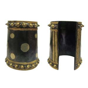 Mesmerizing 925 Silver Antique Gold Plated Hand Cuff
