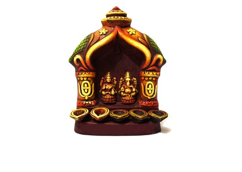 Ganesh Laxmi 5 Diya Set
