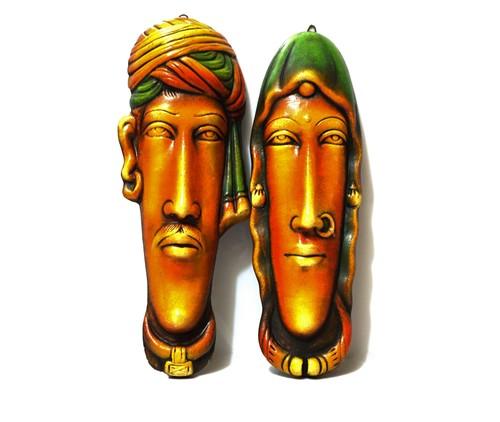 Rajasthani Pair Face Wall Hanging