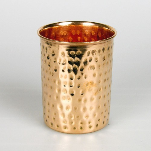 370 ml Pure Copper Hammered Luxury Water Glass