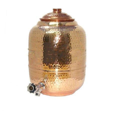 6000 Ml Pure Copper Hammered Luxury Water Dispenser