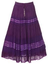 Ladies Long Cotton Skirt