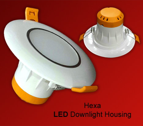 Hexa Round LED Downlight Housing