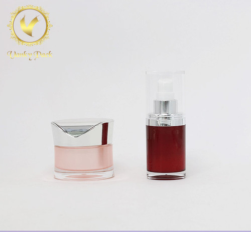 100ml High End Acrylic Double Wall Cosmetic Lotion Pump Bottle
