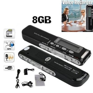 Digital USB Voice Recorder 8GB Line-in Telephone Adapter