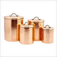 Copper Metal Kitchen Canister