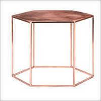 Decorative Copper Hexagonal Coffee Table