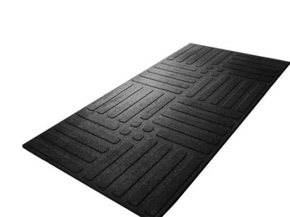 Black Utility Workplace Rubber Mat