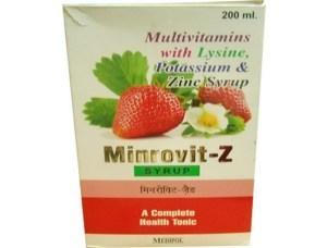 Multivitamins With Lysine, Potassium Zinc Syrup