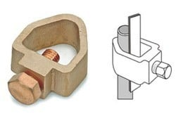 B Type Rod To Tape Earth Clamps