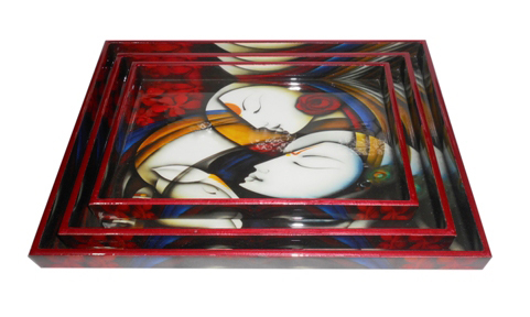 Fine Quality Printed Wooden Tray