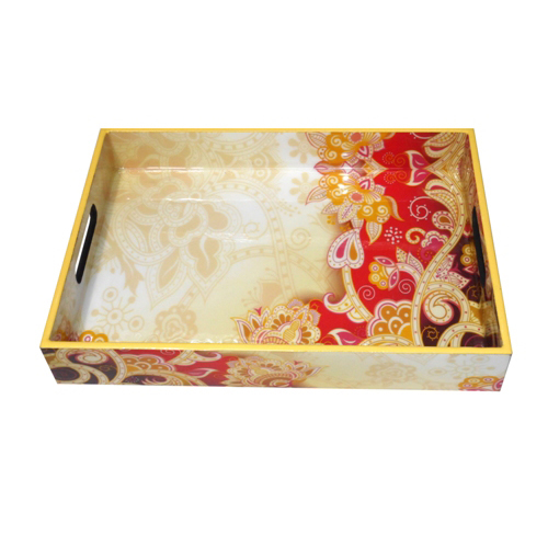 Glossy Finished Wooden Tray