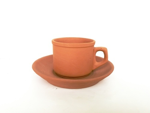 Fine Quality Terracotta Clay Cup Plate