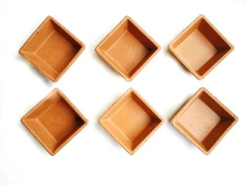Precise Terracotta Clay Square Bowls