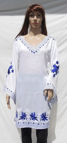 Rayon Embroidered Summer Dresses