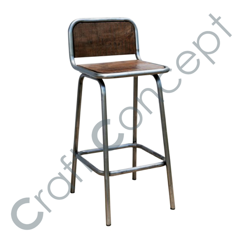 Bar Chair Wood Top