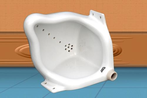 Mens Corner Ceramic Urinal