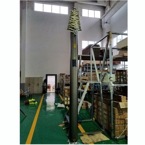 25m Lockable Pneumatic Telescopic Mast 30kg Payloads