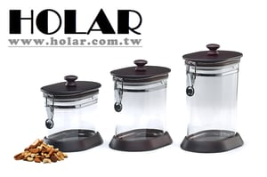 Taiwan Made Solid Acrylic Food Candy Cookie Jar With Wood Lid