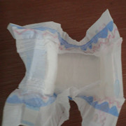 White Breathable Pe Film Baby Diaper