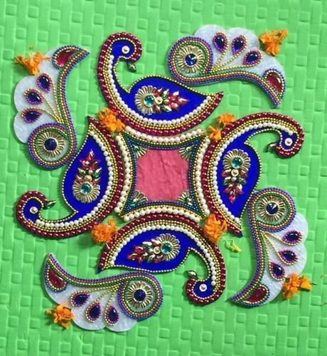 Designer Peacock Rangoli