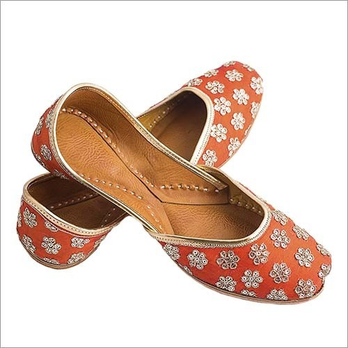 Orange Saluja Punjabi Jutti Punjabi Mojari For Women & Girls